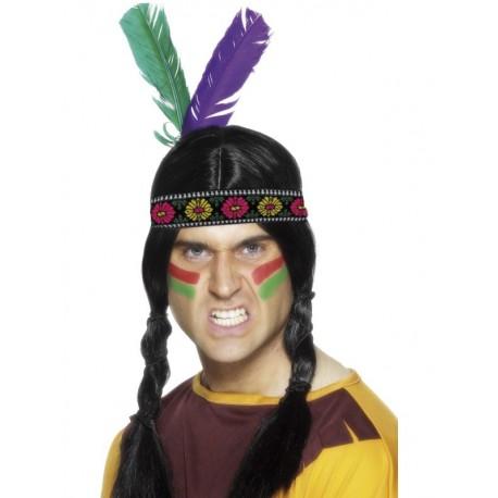 Tocado para la Cabeza con 2 Plumas para Indios