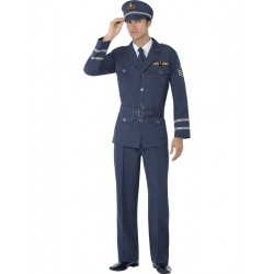 Disfraz De Capitán De Las Fuerzas Aéreas De La Segunda Guerra Mundial
