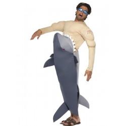 Disfraz De Hombre Siendo Comido Por Un Tiburón