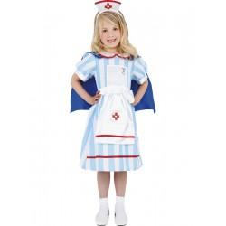 Disfraz De Enfermera Retro Infantil